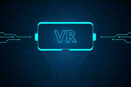 abstract virtual reality technology future interface hud vector design for business. 向量圖像