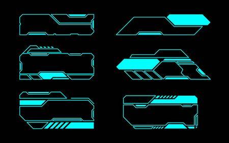 Frame set technology future interface hud . Illusztráció