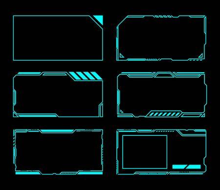 Frame set technology future interface hud . Ilustração