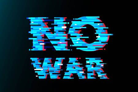 No war glitch vector abstract design.
