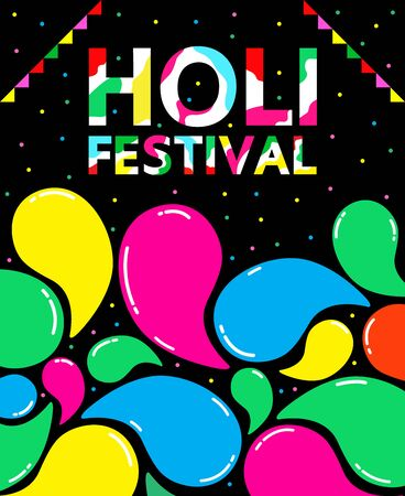 Holi festival vector design for international day.