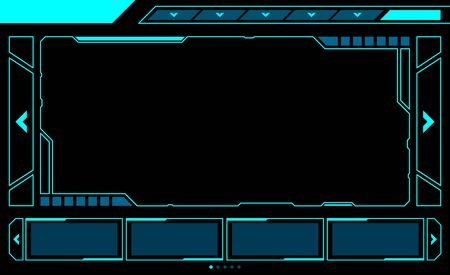 Abstract frame technology futuristic interface hud vector design.