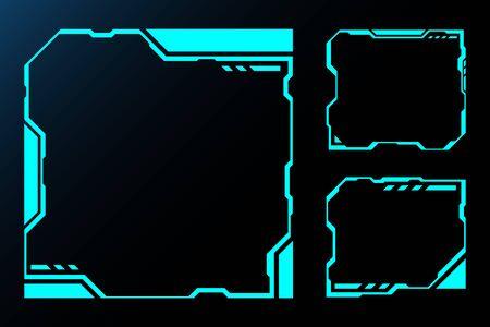 Frameset technology future interface hud. vector design for control panel Ui technology E-sport games.