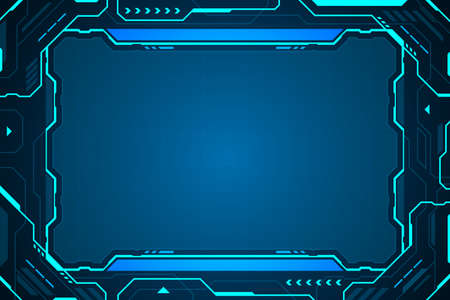 frame abstract technology future interface hud vector design.