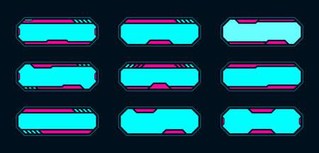 Futuristic frame hud design for the digital game online.