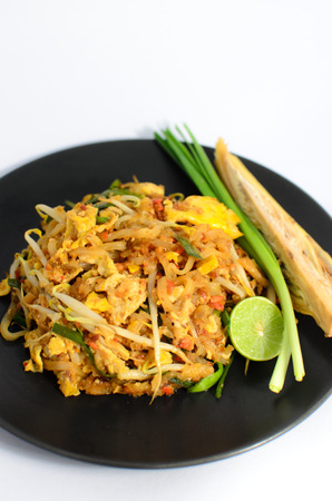 Noodles pad Thai   Thai food   photo