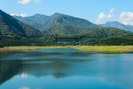 Lake in behind of dam (In Fang, Chiang Mai, Thailand.)