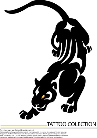 Black tiger walking design  Vector