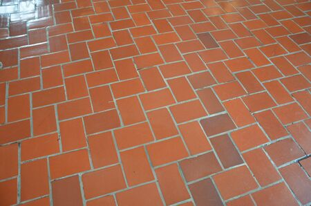 red rectangle brick tile floor or ground