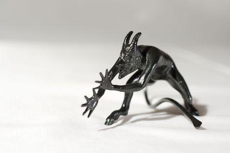 A spooky black devil