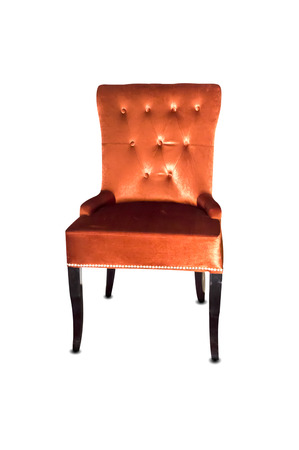 antique chair: antique chair in front of white background