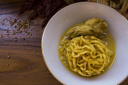 soi: Egg Noodle in Chicken Curry Kao Soi Kai