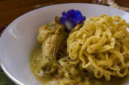 soi: Egg Noodle in Chicken Curry Kao Soi Kai  Still life