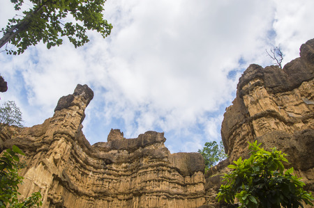 grand hard: Pha Chor (Canyon), in national park which is Unseen Thailand at Chiangmai province, Thailand.
