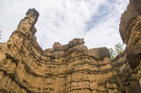 soil erosion: Pha Chor (Canyon), in national park which is Unseen Thailand at Chiangmai province, Thailand.