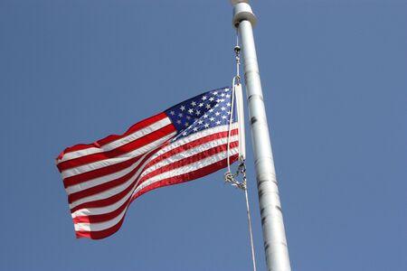poleas: Una Bandera de EE.UU. Foto de archivo