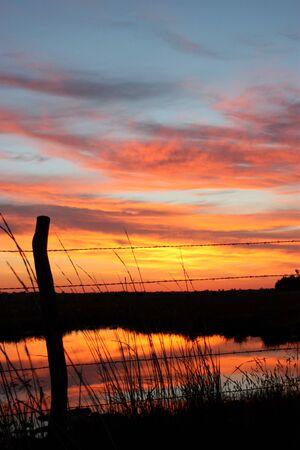 horrizon: Country Sunset Stock Photo