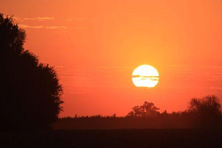 Bright Orange Country Sunset Stock Photo - 7870571