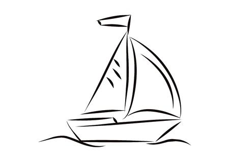 Segelboot zeichnung schwarz  Segelboot Zeichnung Schwarz | loopele.com