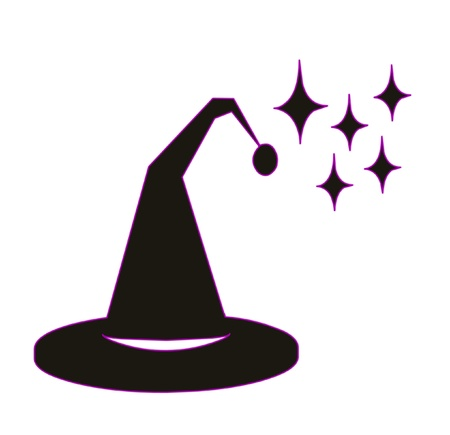 Witch hat  for black color on a white background photo