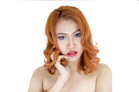 Beautiful face of a woman portrait Stock Photo - 22178226