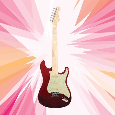 Electric guitars vector icons set. Use as icons, elements for logo design, badges. Vector illustration.