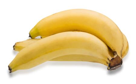 banana skin: Bunch of bananas isolated on white background