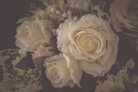 Flowers in the design of natural dark tones.