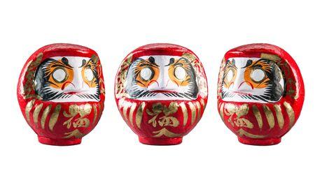 Poupée japonaise isolée sur fond blanc Banque d'images