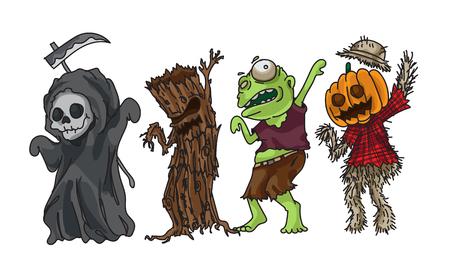 Halloween collection design easy to edit vector illustration Ilustração