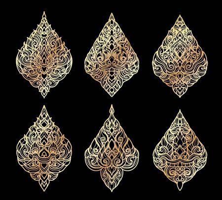The Arts of Thailand line Thai pattern background.