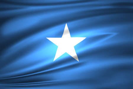 Somalia 3D waving flag illustration. Texture can be used as background. Stockfoto