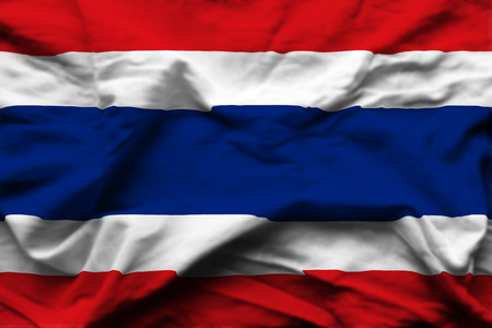 Thailand 3D wrinkled flag illustration. Usable for background and texture.