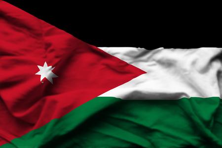 Jordan 3D wrinkled flag illustration. Usable for background and texture.