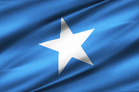 Somalia 3D waving flag illustration. Texture can be used as background.
