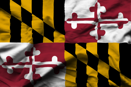 Maryland 3D wrinkled flag illustration. Usable for background and texture.