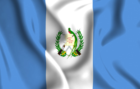 Guatemala 3D waving flag illustration. Texture can be used as background.