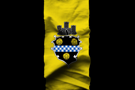 Pittsburgh Pennsylvania 3D wrinkled flag illustration. Usable for background and texture.