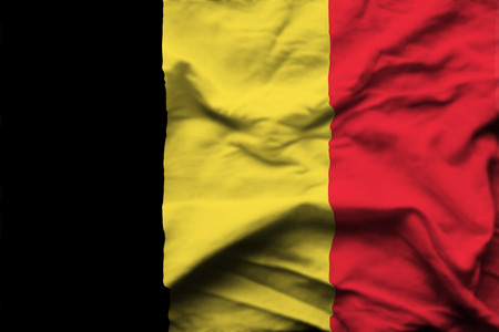 Belgium 3D wrinkled flag illustration. Usable for background and texture.
