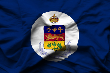 Lieutenant-Governor Of Quebec 3D wrinkled flag illustration. Usable for background and texture. Stock fotó