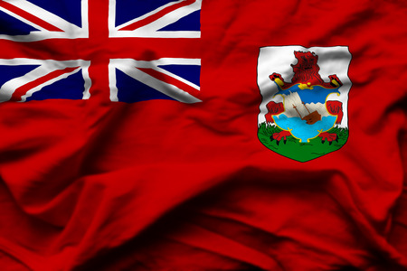 Bermuda 3D wrinkled flag illustration. Usable for background and texture.