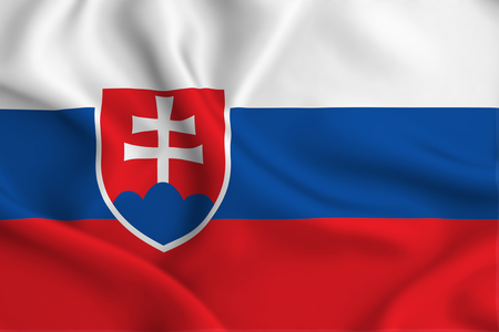 Slovakia 3D waving flag illustration. Texture can be used as background. Stock fotó - 109912209