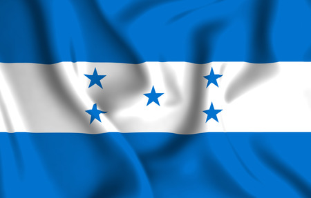 Honduras 3D waving flag illustration. Texture can be used as background.