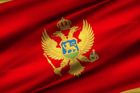Montenegro 3D waving flag illustration. Texture can be used as background. 写真素材