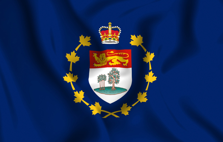 Lieutenant-Governor Of Prince Edward Island 3D waving flag illustration. Texture can be used as background. Stock fotó