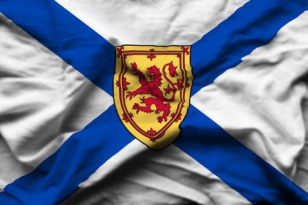 Nova Scotia 3D wrinkled flag illustration. Usable for background and texture.