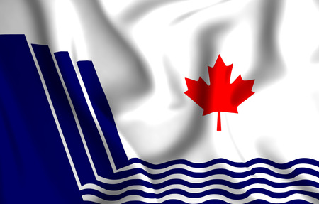 Scarborough Ontario 3D waving flag illustration. Texture can be used as background.