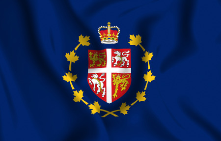 Lieutenant-Governor Of Newfoundland And Labrador 3D waving flag illustration. Texture can be used as background.