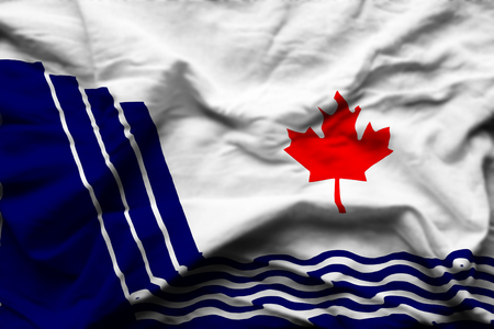 Scarborough Ontario 3D wrinkled flag illustration. Usable for background and texture. Фото со стока