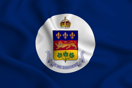 Lieutenant-Governor Of Quebec 3D waving flag illustration. Texture can be used as background. Stock fotó